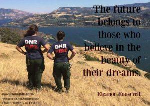 women in wildfire