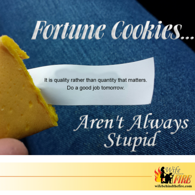 Fortune Cookies Aren't Always Stupid