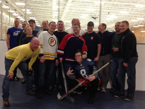 b shift broom hockey