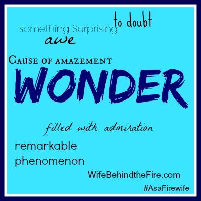 wonder as a firewife