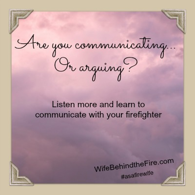 communicate as a firewife
