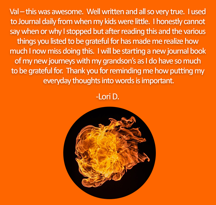firelife gratitude journal testimonial