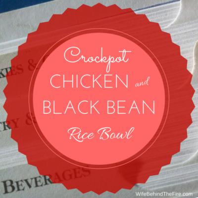 Crockpot Chicken and Black Bean Rice Bowl