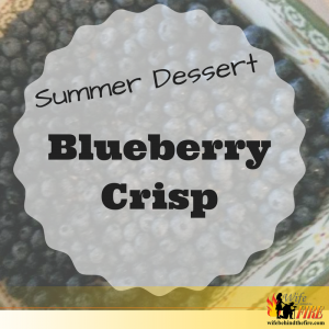 summer dessert - blueberry crisp