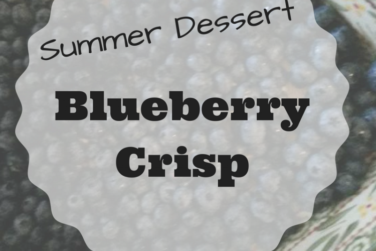 Summer Dessert – Blueberry Crisp
