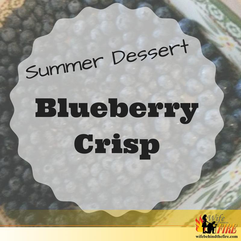 summer dessert - blueberry crisp