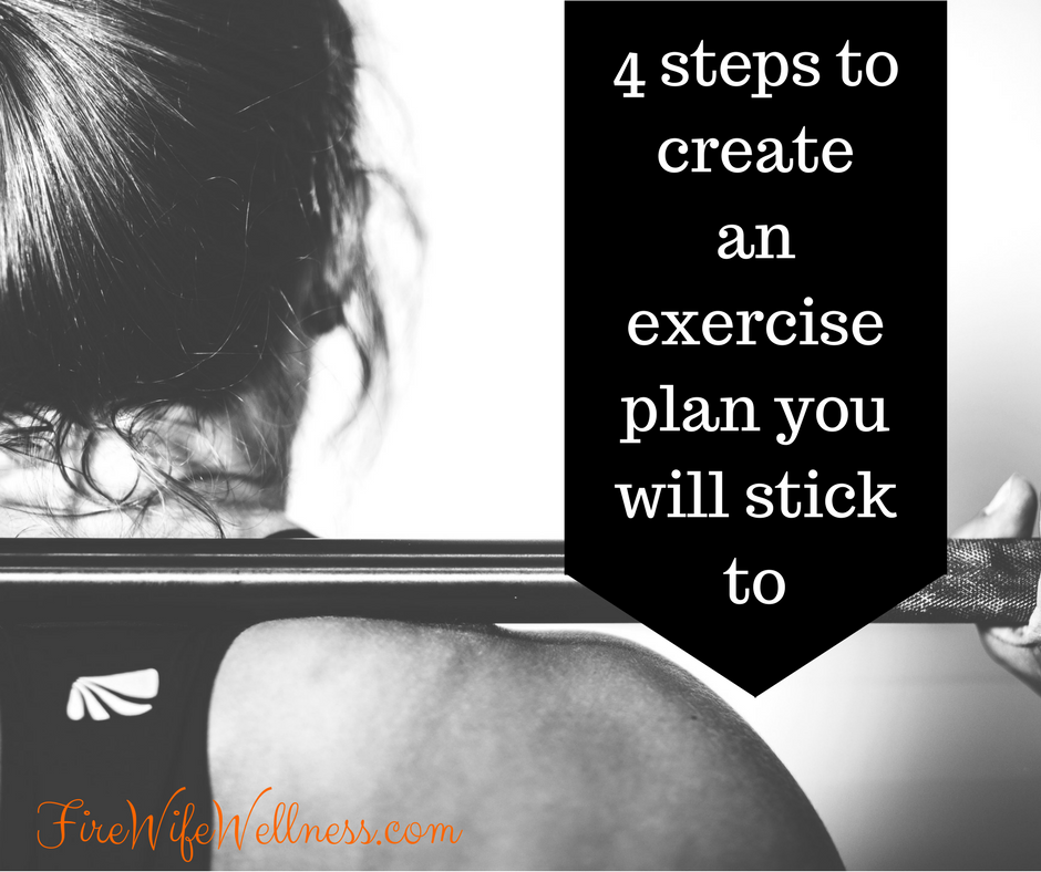 4 steps to create exercise plan